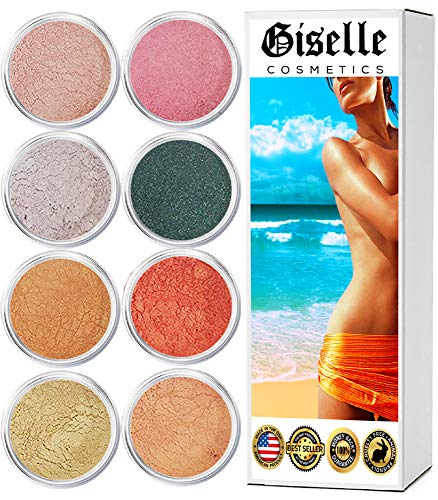 EyeShadow Palette - Mineral Makeup Eyeshadow Powder, Foundation, Concealer, Blush, and Contouring Palette | Pure, Non-Diluted Shimmer Mineral Make Up in 8 Cupcake Hues and Shades | For All Skin