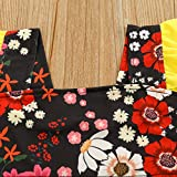 Toddler Kid Baby Girl Strap Ruched Floral