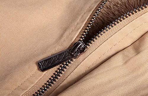 Tasche Kaki Abbigliamento Manica Capispalla Maschile Collare Outwear Rivestimento Caldo Dei Cappotto Anteriore Rivestimenti Lungo Huixin A Del Stare 1qvwTI