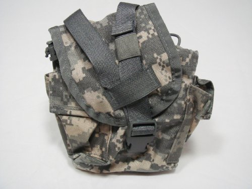 Official US Military ACU MOLLE II Canteen Utility Pouch, Outdoor Stuffs