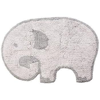 Heritage Kids Elephant Figural Rug, Grey