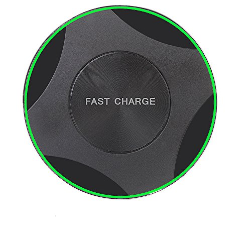 Wireless Charger, 7.5W Qi Wireless Charging Pad for iPhone X/iPhone 8/8 Plus, 10W Fast-Charging for the Samsung Galaxy S9/S9 Plus/S8/Note 8/S7/S7 Edge, 5W for All Qi enabled Phones(No AC Adapte)
