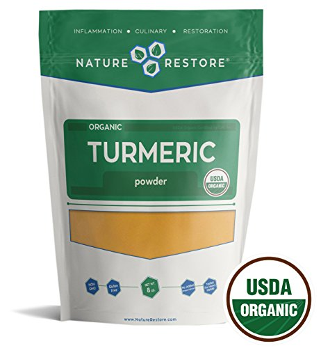 51BrwvqeenL - USDA Certified Organic Turmeric Powder with Natural Curcumin, Non-GMO and Gluten-Free (8 ounces)