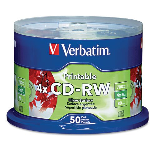 VER95159 - Verbatim DataLifePlus 95159 CD Rewritable Media - CD-RW - 4x - 700 MB - 50 Pack Spindle by Verbatim