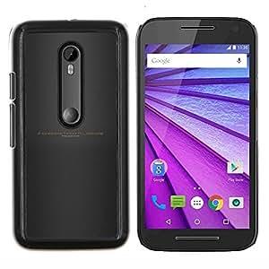 YiPhone /// Prima de resorte delgada de la cubierta del caso de Shell Armor - Seguir adelante a través de secuencias de comandos Infierno - Motorola MOTO G3 / Moto G (3nd Generation)