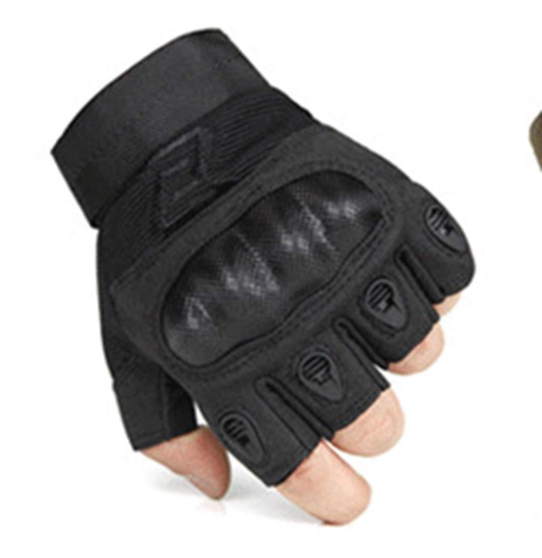 GSAYONEE Faser Rüstung Taktische Handschuhe Radfahren Klettern Ausbildung Taktische Vollfinger-Handschuhe Taktische Ausbildung Rüstung Schutzhandschuhe (Farbe   Military Grün Half Finger, Größe   XL) 444e32