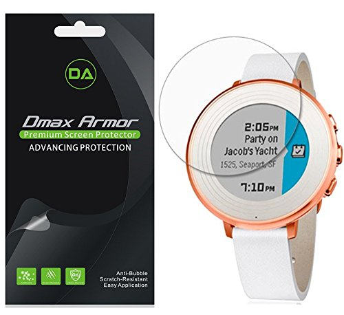 pebble-time-round-14mm-screen-protector-6-pack-dmax-armor-anti-bubble-hd-clear-screen-shield-lifetim