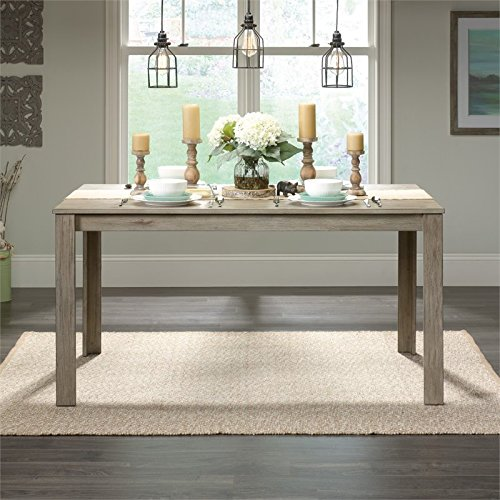 Sauder New Grange Dining Table, White Pine finish (Dining Wood Table Recycled)