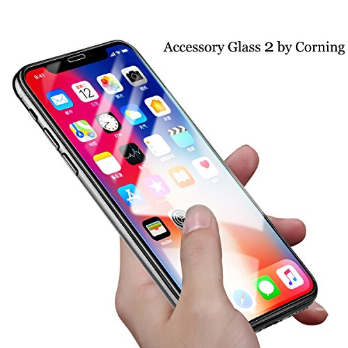 Benks iPhone X 10 Tempered Glass Screen Protector Made with Corning Gorilla Protective Film (2.5D Edge) [Crystal Clear] [Anti-Scratch] [Bubble-Free Installation] for iPhone 10/X 5.8-Inch