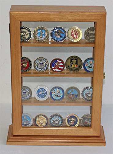 4 Shelves Military Geocoin Stand Counter Top Display Case