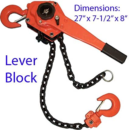 3 Ton LEVER BLOCK Ratchet Chain Hoist Lift Puller