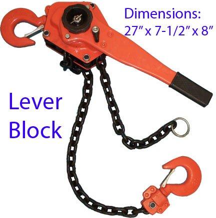 3 Ton LEVER BLOCK Ratchet Chain Hoist Lift ()