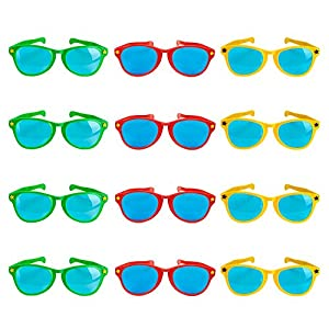 """12-pack 11"""" Jumbo Sunglasses – Fun Photo Booth Props by Pudgy Pedro's Party Supplies"""
