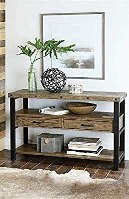 Hammary 48 in. Sofa Table in Distressed Light Stain Finish