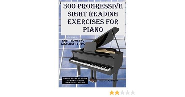 300 Progressive Sight Reading Exercises for Piano Large Print ...