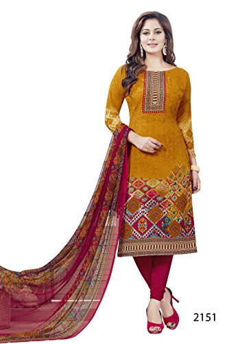 Zahida Fashion Crepe Unstitched Shalwar Kameez Indian Bollywood Synthethic Pakistan Designer
