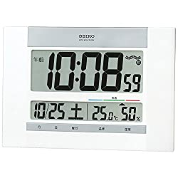 Seiko CLOCK clock wall clock table clock combined digital temperature display humidity display radio clock SQ429W