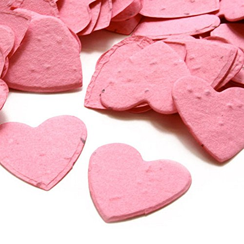 (Heart Shaped Plantable Seed Confetti (Hot Pink) - 350 pieces/bag)