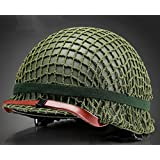 GPP®Perfect WWII US Army M1 Green Helmet Replica with Net/ Canvas chin strap