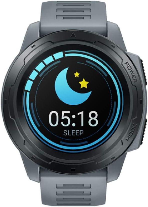 SUQIAOQIAO Zeblaze Vibe 5 Pro Batería De Larga Duración A Todo Color De 1,3 Ronda Pantalla Táctil Multi-Deportes Seguimiento Inteligente De Reloj,Gris