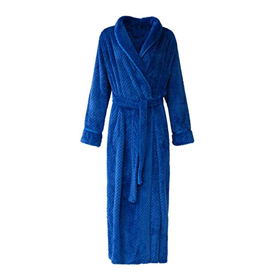 a74a502014 bigcity Men Women Soft Flannel Solid Color Long Bath Robe Home Dressing Gown  Sleepwear Fashion Thick Flannel Couple Nightgown Men And Women Lengthen Xl  Belt ...