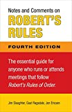 img - for Notes and Comments on Robert's Rules, Fourth Edition book / textbook / text book