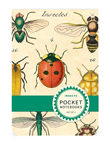 Cavallini Pocket Notebook Set Insects, 2.75-Inch by 4-Inch, Contains 2 Pocket-Sized Notebooks Cavallini & Co. NBP/INS