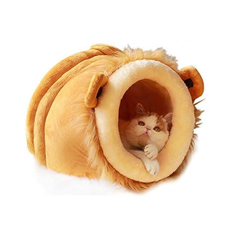 Onnear Cama para Mascotas con Forma de león Cama cómoda para ...