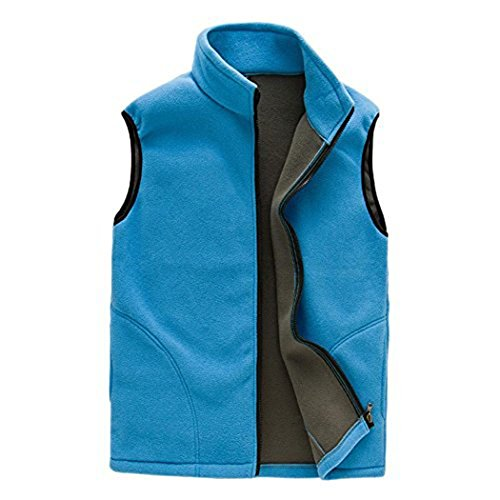 Zip Front Fleece Vest - 4