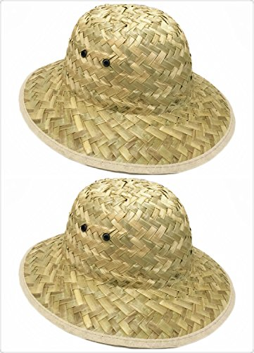 GiftExpress Adult Woven Safari Pith Hat 1 set of 2
