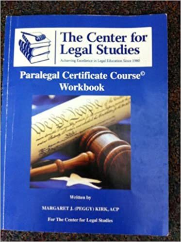 paralegal certificate course w: acp margaret j. (peggy) kirk ...