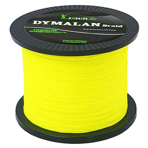 g line 80LB 1000m/1094yds 4 Strands PE Braid Superline - Abrasion Resistance Fishing Line - Zero Stretch - Thinner Diameter for Saltwater & Fresh Water by DYMALAN ()