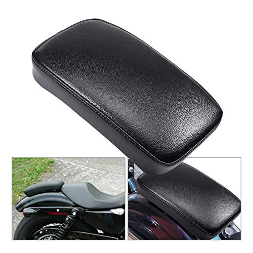 INNOGLOW Motorcycle Seat Rectangular Passenger Pad Seat 6 Suction Cup for Harley Motorcycle Cruiser Chopper Custom (Best Motorcycle For Pillion Passenger)