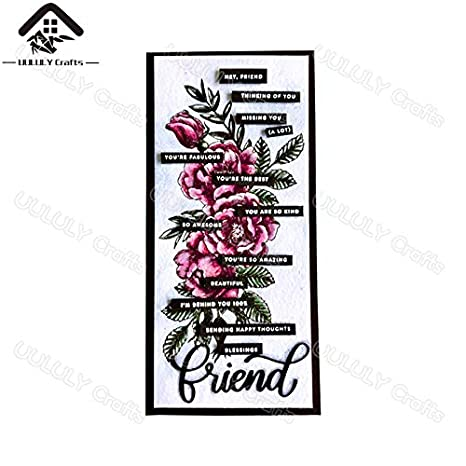 Davitu UULULY Crafts 2018 Stamps 11 Color: clear stamps 16cm New Clear Stamps For Scrapbooking Beautiful Flowers Clear Stamps And Dies