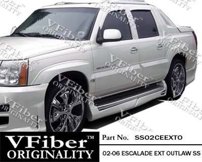 2002-2006 Cadillac Escalade Ext 4dr Body Kit Outlaw Side Skirt (Outlaw Body Kit)