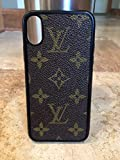 Handcrafted flexible cell phone case for iPhone X authentic re-purposed Louis Vuitton canvas. New black flexible case for iPhone X covered with re-purposed Louis Vuitton Monogram canvas. *Designer look at a fraction of price *Great gift idea ...