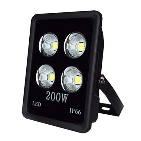 Foco Proyector LED, Negro Luz De Inundación De LED Reflector ...