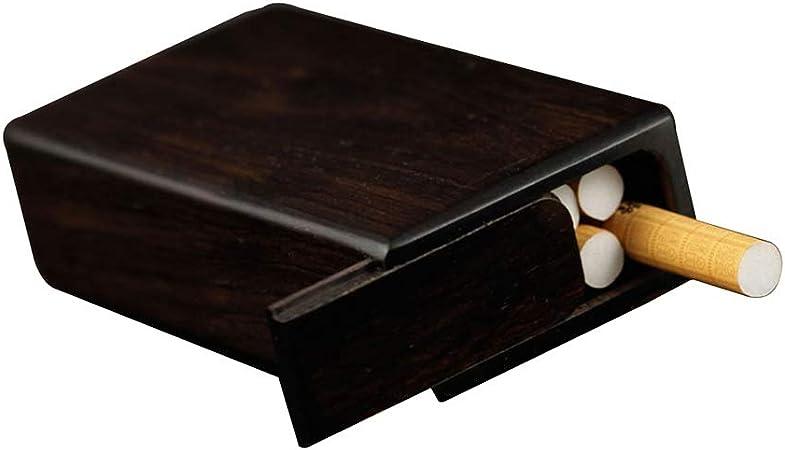 XIAOXIAO Caja de Cigarrillos Caja De Cigarrillos De Madera para Hombre De 10 Palos Funda De Cigarrillo De Madera Maciza Retro Portátil Diseño Creativo Suave Y Cómodo: Amazon.es: Hogar