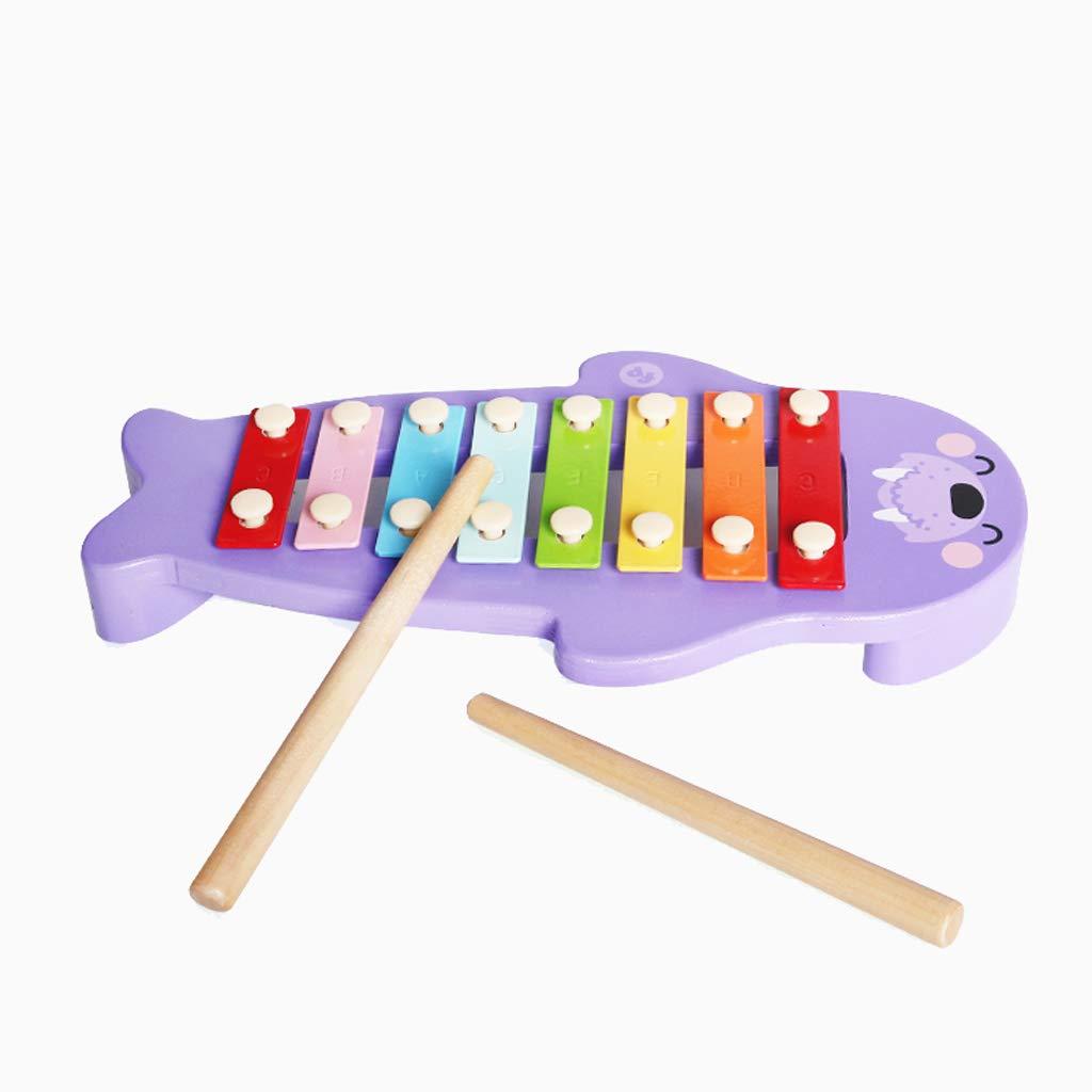 HXGL-Klopfen Sie am Klavier Melodie Walross klopft klopft klopft an das Klavier Xylophon aus Holz Oktave Hand klopfen Musik Spielzeug 2-6 Jahre alt (Farbe : lila) b36fe6