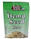 Foods Alive Organic Hulled Hemp Seeds Raw -- 8 oz - 3PC