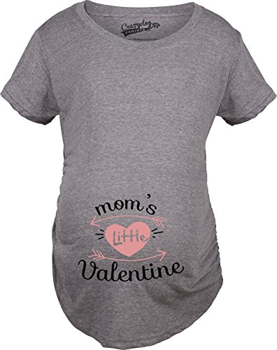 Crazy Dog TShirts - Maternity Moms Little Valentine Cute Funny Valentine's Day Pregnancy T Shirt - Femme