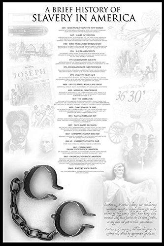History of Slavery in America Poster 24 x 36in