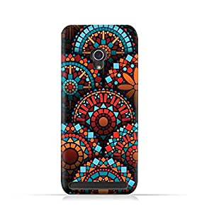 AMC Design Asus Zenfone 6 TPU Silicone Protective Case with Geometrical Madalas Pattern