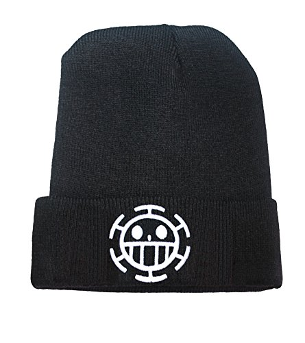 (Anime One Piece Trafalgar Law Logo Beanie Fashion Unisex Embroidery Beanies Skullies Knitted Hats Skull Caps)