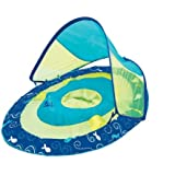 Swim Ways Baby Spring Float Sun Canopy - Teal and Lime (Sail Boat and Fish)