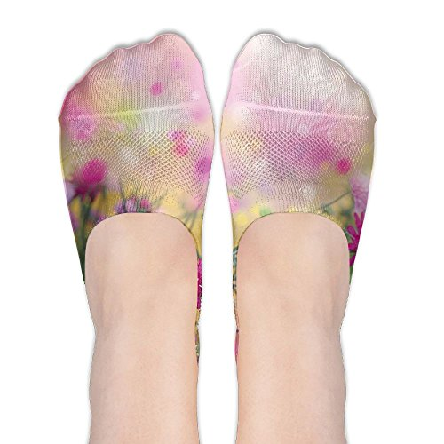 en Spring Time Season Plants Abstract Backdrop Women's Terylene Cotton Stockings (Dream Season Boots)
