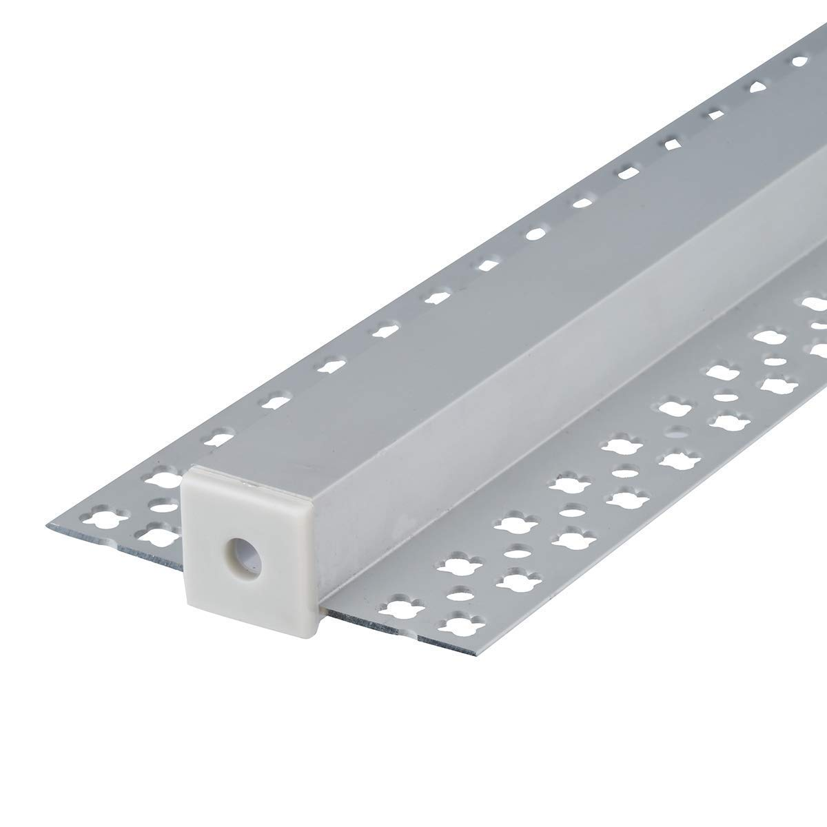StarlandLed 5-Pack 6.6FT/2 Meter Plaster-in Recessed Slim LED Aluminum Channel with Flange for LED Strip, Aluminium LED Profile with Clip-in Diffuser and End Caps by StarlandLed (Image #5)