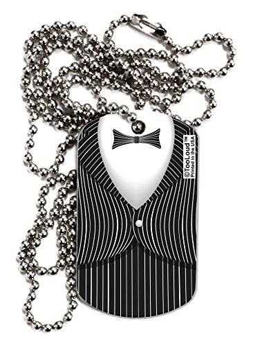 TooLoud Skeleton Tuxedo Suit Costume Adult Dog Tag Chain -