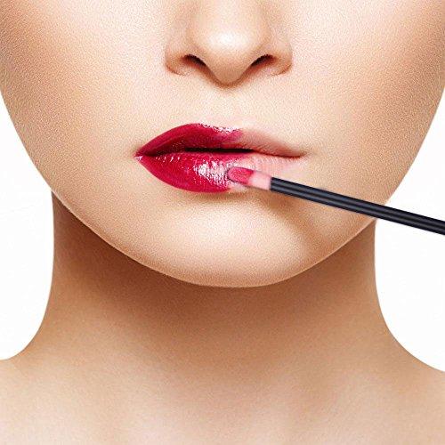 300pcs Disposable Lip Brush Lip Gloss Applicators Lipstick Wands Tool Kits (300)