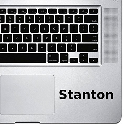 ((2x) StickAny Palm Series Stanton Sticker for Macbook Pro, Chromebook, and Laptops (Black))